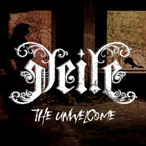 Digital artwork for VEILE's first single 'The Unwelcome', an antique tale of classical horror, told with unsettling black metal compositions, haunting orchestrations and an unheard array of multidimensional vocal outbursts.